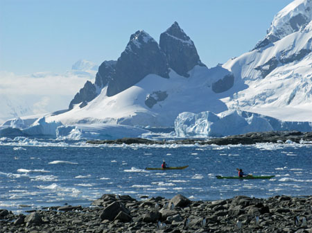 Kayakers off Danco Island