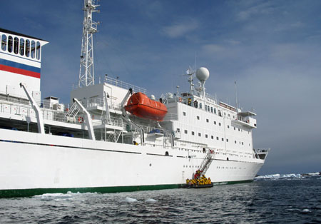 Akademik Sergey Vavilov - This Finnish Built Ocean Research Vessel was built towards the end of the Cold War to enable the Soviet Union to track American nuclear submarines. With a Russian crew it has been used for Antarctic Expeditions for 6 months a year since the early 1990s.
