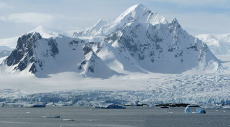 Antarctic Peak – Mainland view taken from the Argentine Group of Islands.  This majestic peak would surely be world renowned if located in a more accessible part of the planet.