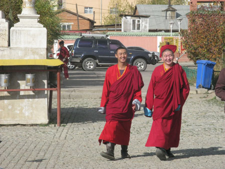 Cheerful Monks