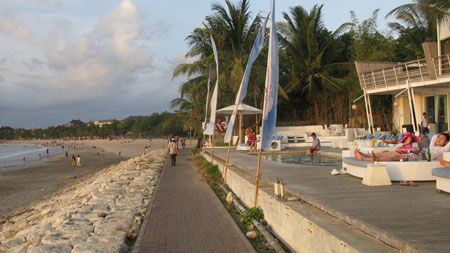 Kuta now has a boardwalk and luxury hotels