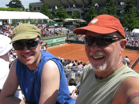 Father and Son at Roland Garos