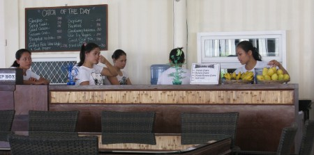 Our friendly and attractive waitressing crew - never overworked!