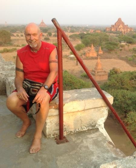 The author at Schwesandaw Paya, Bagan