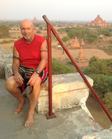 The author at Schwesandaw Paya, Bagan