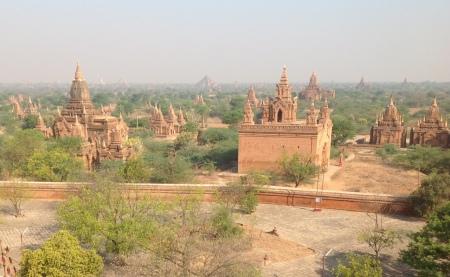 Bagan landscape from Dhammayazika Paya, Bagan