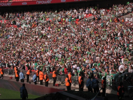 Yeovil Fans salute their team.