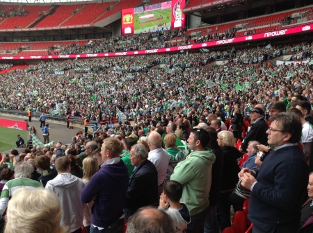 Yeovil fans savouring the atmosphere.