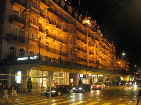 Headline acts enjoy staying at the nearby prestigious Montreux Palace Hotel