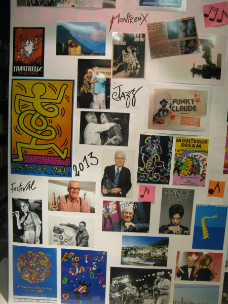 Shop window tribute to Claude Nobs – Founder and Director of the Montreux Festival