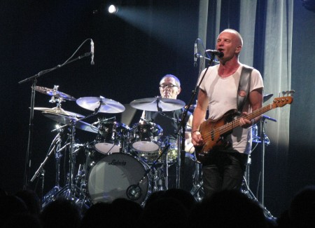 Sting still trim and with powerful vocals