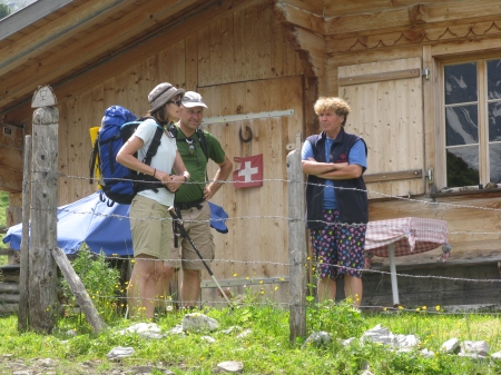 After 12 summers at Busenalp Sylvia has made many friends with hikers who have enjoyed her hospitality