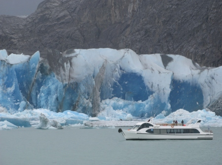 The Viedma Glacier in Patagonia is one of many spectacular glaciers that can be viewed close up