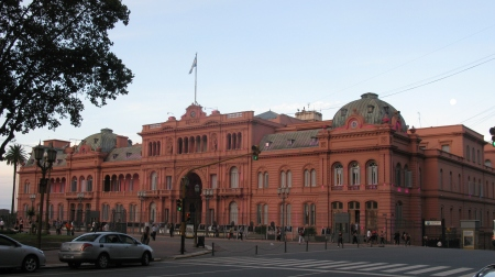 Eva Peron addressed the Argentinian people from one of the Balconies of the Casa Rosada – the Presidential Palace