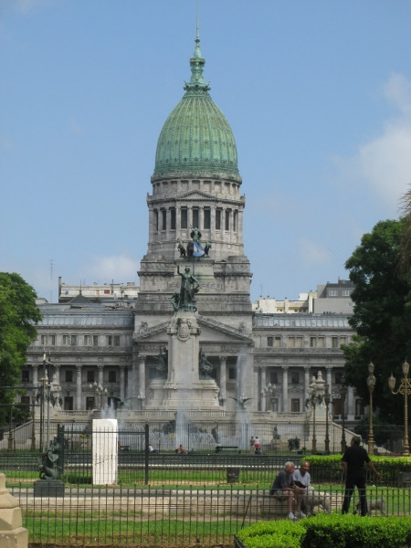 The design for the Palacio del Congresso in Buenos Aires was based on the Capitol Building in Washington DC