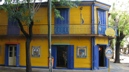 The working class inner city barrio of Boca is popular with tourists keen to see the brightly painted buildings