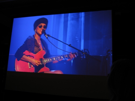 Melody Gardot is a colossal talent and is captured here on a stage side screen in 2013