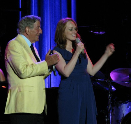 Tony Bennett in duet with his daughter