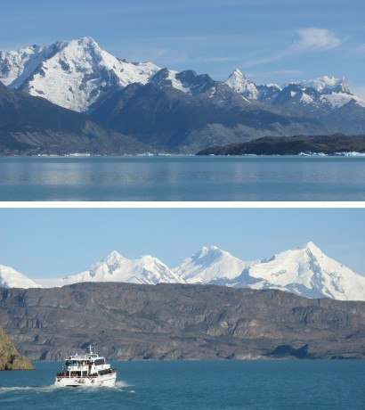 Lago Argentino offers stunning scenery is more than equal to the Swiss and Italian Lakes