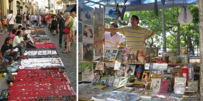 The Sunday Market at San Telmo in Buenos Aires is popular with tourists and locals alike but beware pickpockets!