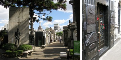 The Recoleta Cemetery has streets of ornate tombs but the crowd puller is the grave of Eva Peron