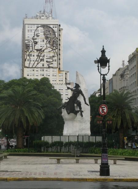 Eva Peron still overlooks Buenos Aires