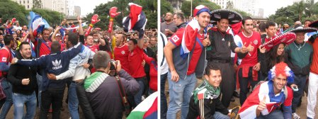 Costa Rica Fans were deservedly jubilant after the Ticos qualified for the knock out stages with a victory over Italy