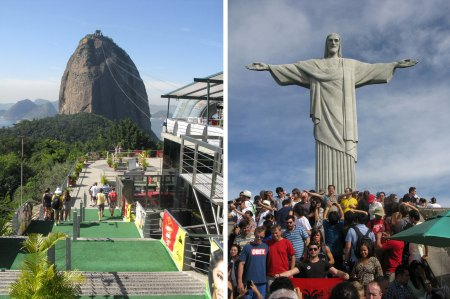 Sugar Loaf mountain and Christ the Redeemer were must see attractions for all World Cup visitors to Rio.