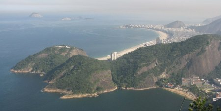 Rio: Cococobana Beach from Sugar Loaf mountain