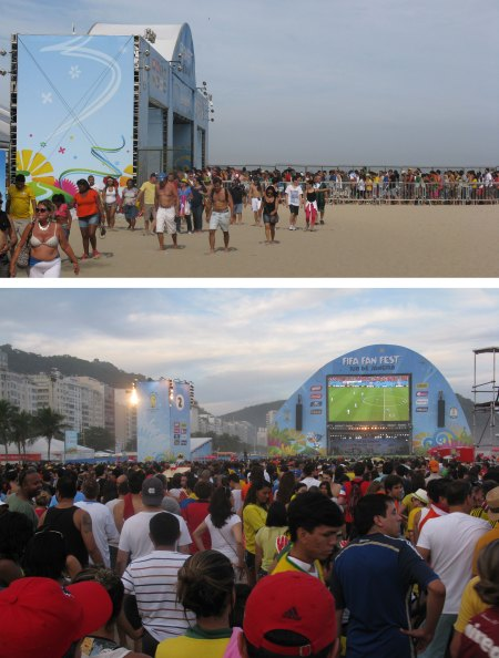The Cococobana Beach Fan Zone was popular with fans from around the world.