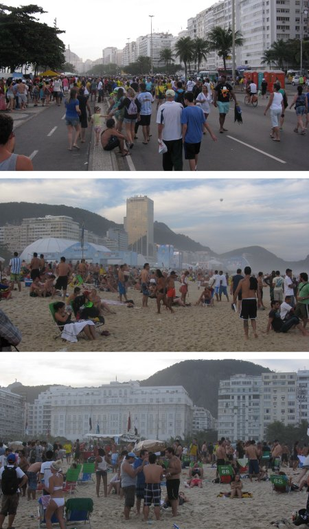 Cococobana Beach was always packed during the World Cup.