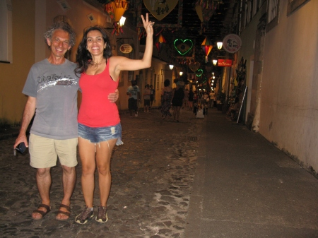 Jeff goes Brazilian with his landlady Adriana in Salvador.
