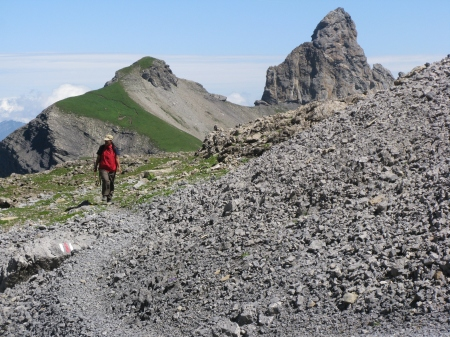 As we approached Schwalmere the terrain got more rugged.