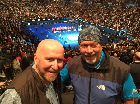 Unbeknown to me like myself it turned out my friend Peter Thompson (seen here at the recent Australian Open Tennis Championships)……………….