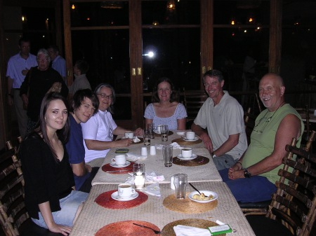 Dinner with the Elsworths at Lower Sabie Camp in the Kruger.