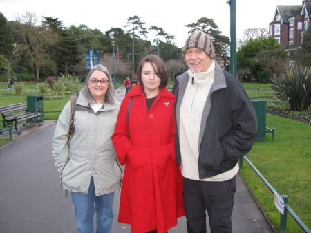 When I met my wife Sharron in Papua New Guinea she was convinced I came from Bournemouth – it turned out she had been staying with my childhood neighbour and friend in Australia and we had a similar accent. Here we are in Bournemouth with daughter Sarah 32 years later!