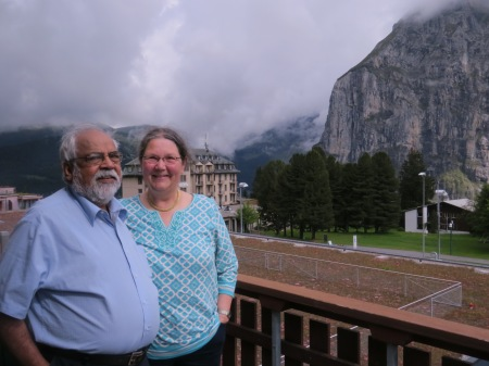 …….and he visited me in Murren Switzerland August 2014 with his Swiss wife Ruth.