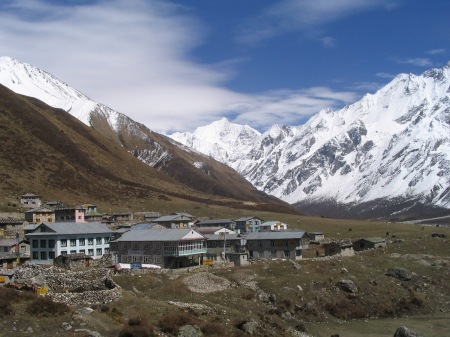 The remote Nepalese village of Kyangin Gompa was almost deserted and the setting for an unlikely reunion.