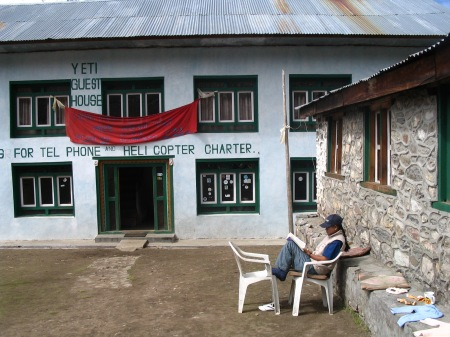 Relaxing at Kyangin Gompa ………..