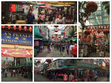 The Petaling Street Market is popular with locals and tourists alike.