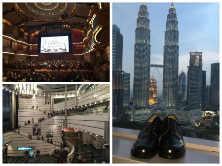 The Malaysian Philharmonic Orchestra perform at their own Concert Hall within the Petronas Twin Towers. Gentlemen need to procure shoes!