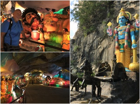 The Ramayana is the most colourful and ornate of the caves at Batu.
