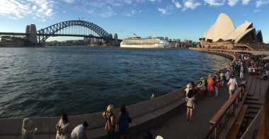 The Opera House is a great location for watching the departure of Ocean Liners.