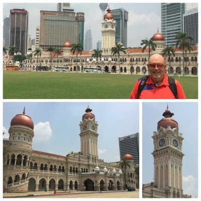 The Sultan Abdul Samad Building dominates the Dataran Merdeka and is the most recognisable historic building in Kuala Lumpur