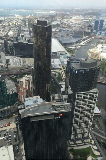 There is a spectacular view over Melbourne from the Eureka Tower Viewing Deck.