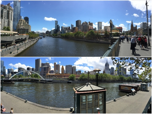 The Yarra flows through the heart of Melbourne.