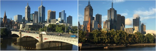 Central Melbourne and the Princes Bridge.