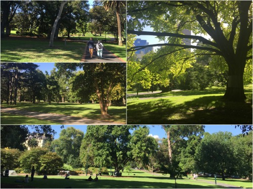 The Treasury and Fitzroy Gardens provide an oasis of calm in Central Melbourne.