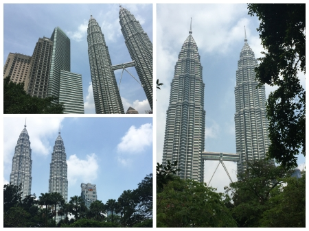 The Petronas Towers by day.