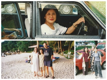 Irene Sia (but forever Miss Chan) in KL 1994 (top) and Penang 1999 (bottom).